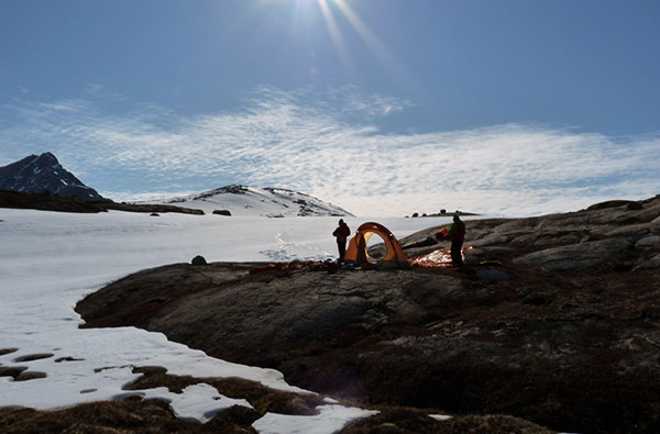 The DRY HEAT technical garments used by an expedition of people from Alto Adige, in Greenland.